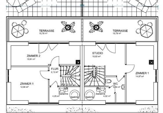 doppelhaus bauen mit ber 160 qm grundriss. Black Bedroom Furniture Sets. Home Design Ideas