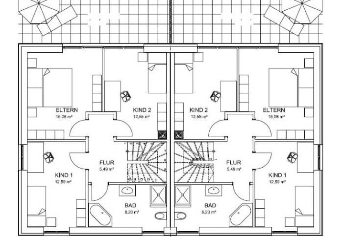 doppelhaus grundriss beispiele grundriss doppelhaus ebenerdig die sch nsten doppelhaus. Black Bedroom Furniture Sets. Home Design Ideas