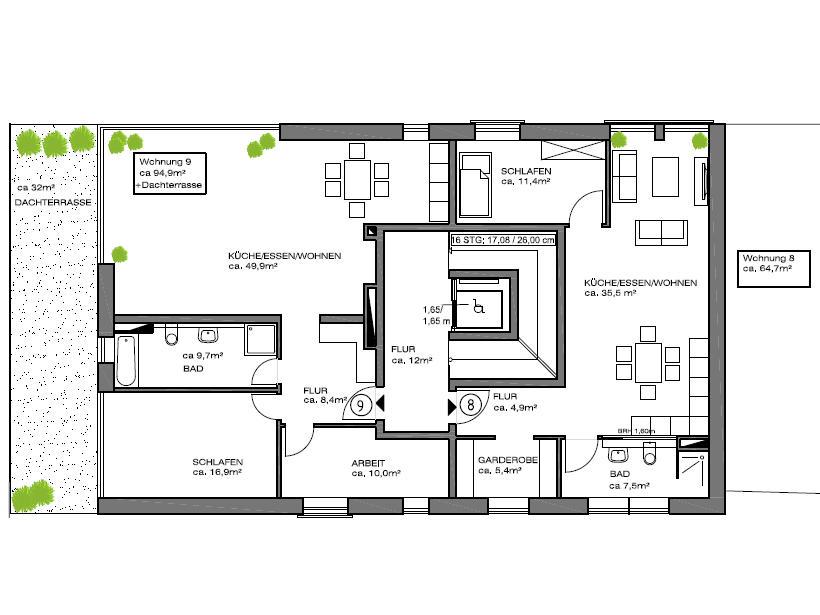 mehrfamilienhaus mit 11 wohnungen bauen. Black Bedroom Furniture Sets. Home Design Ideas