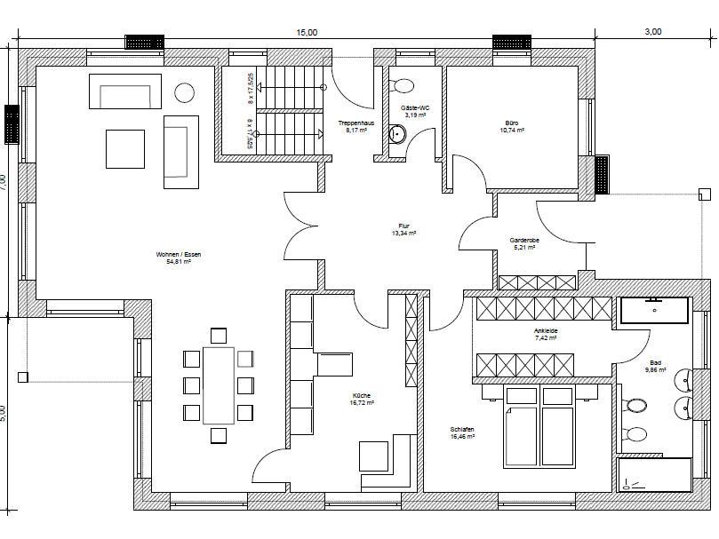 mehrgenerationenhaus 235 mehrgenerationenhaus mit ber 230 qm grundriss. Black Bedroom Furniture Sets. Home Design Ideas