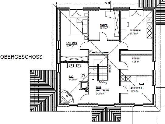 stadtvilla 217 stadtvilla grundriss modern mit ber 200 qm. Black Bedroom Furniture Sets. Home Design Ideas