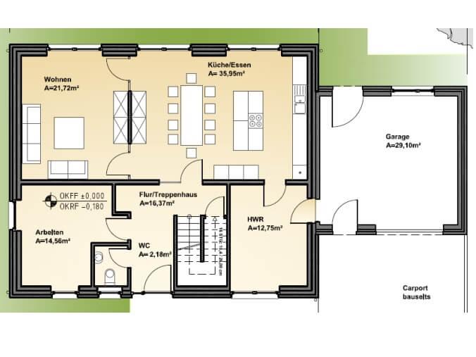 Stadtvilla 205 stadtvilla grundriss modern mit ber 200 qm for Stadtvilla grundriss