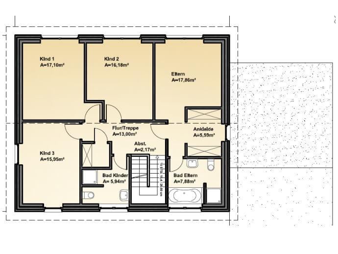 Stadtvilla 205 - Stadtvilla Grundriss modern mit über 200 qm