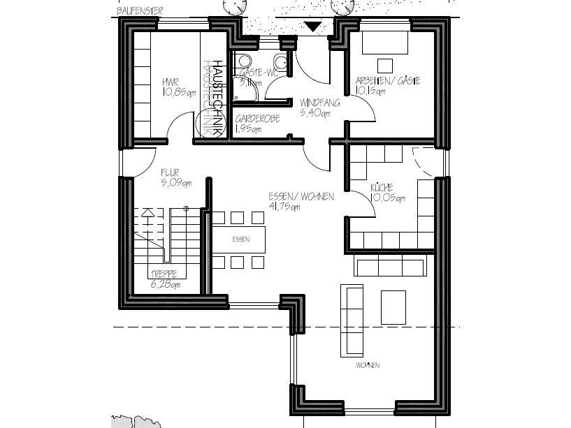 stadtvilla 178 stadtvilla grundriss mit ca 180 qm. Black Bedroom Furniture Sets. Home Design Ideas